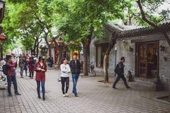 Gasse von Peking, China lizenzfreie stockfotografie