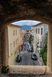 Gasse von Portoferraio auf Elba-Insel lizenzfreie stockbilder