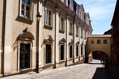 Gasse von Spichrze in Grudziadz Polen Lizenzfreie Stockfotos