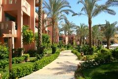 Gassen-Hotel in Ägypten Stockbilder
