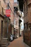 Gassen von Kathmandu stockfotos