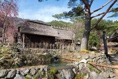 Gassho House at Iyashi-no-Sato Village Royalty Free Stock Photo