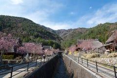 Gassho House at Iyashi-no-Sato Village Royalty Free Stock Image