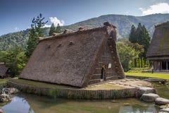 Gassho Zukuri农厂房子,白川町是,日本 免版税图库摄影