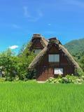 Gassho-zukuri房子 库存图片