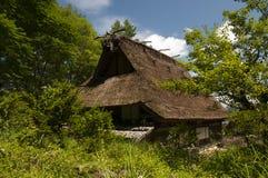 Gassho zukuri building in Hida no sato skansen Stock Image