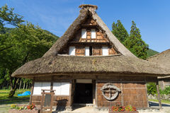 Gassho Zukuri (Gassho-style) House in Gokayama Royalty Free Stock Photo