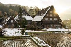 Gassho Zukuri Gassho-style House in Shirakawa-Go Royalty Free Stock Photo