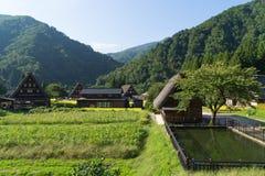 Gassho Zukuri (Gassho-style) Houses in Gokayama Royalty Free Stock Image