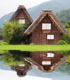 Gassho-zukuri house , Historic Village of Shirakawa-go in summer royalty free stock photography