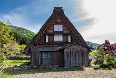 Gassho-zukuri house in Shirakawa-go Stock Photo