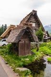 Gassho-zukuri house in Shirakawa-go. Shirakawa-go, Japan - May 3, 2016: Traditional gassho-zukuri house in Shirakawa-go. Shirakawa-go is one of Japan's UNESCO Stock Photo