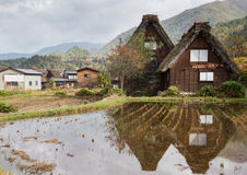 Gassho-zukuri house in Shirakawa-go Royalty Free Stock Images