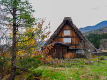 Gassho-Zukuri style house in Shirakawa-Go, Gifu prefecture, Japan. Royalty Free Stock Photos