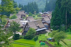 Gassho-zukuri village Royalty Free Stock Image