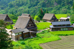 Gassho-zukuri village Royalty Free Stock Photos