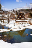 Gassho-zukuri Village/Shirakawago Royalty Free Stock Photography