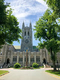 Gasson霍尔,波士顿学院,波士顿,麻省 免版税库存照片
