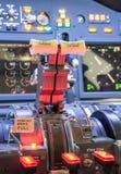 Gasspjäll av ett flygplan Royaltyfri Fotografi