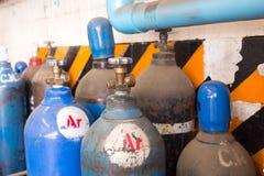 Gasstahlsammelbehälter für das Schweißen Lizenzfreie Stockfotos