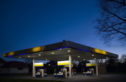 Gasstation at night 1 Stock Photography