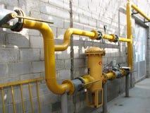gasströmförsörjning Arkivbild