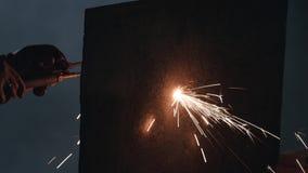 Gassvetsning Metallarbeten N?rbild stock video