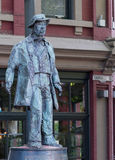 Gassy Jack Statue in Gastown of Vancouver. Royalty Free Stock Images
