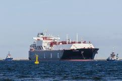 Gastankfartyg royaltyfria bilder