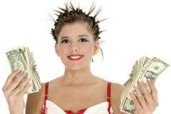 Gastar dinheiro Fotos de Stock Royalty Free