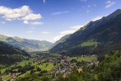 Gastein Valley. Aerial view of the Gastein Valley, Austria Royalty Free Stock Image