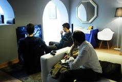 Gasten die @The Playce spelen Stock Afbeelding