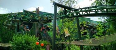 Gastfahrt Arthur Rollercoaster am Europa-Park Lizenzfreie Stockbilder
