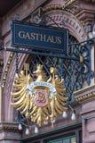 Gasthaus - casa de huéspedes alemana Imagen de archivo libre de regalías