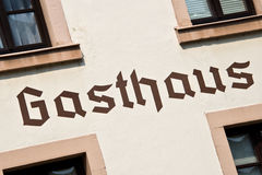 Gasthaus sign on a wall Stock Photography