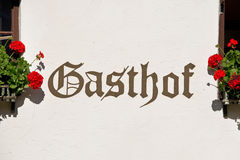 Gasthof sign on a wall Stock Images