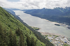 Gastineau Channel in Juneau, Alaska Royalty Free Stock Image