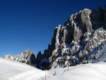 Gastlosen mountain range in winter 06, Switzerland Royalty Free Stock Images