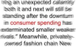 Gasto de consumidor Fotos de archivo