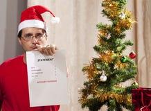 Gasto de la Navidad Imagen de archivo libre de regalías