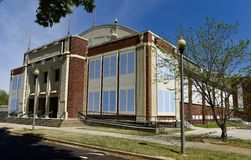 Gaston Community Center. This is a Spring picture of the iconic John Gaston Community Center at Gaston Park located in Memphis, Tennessee in Shelby County. This Royalty Free Stock Photo
