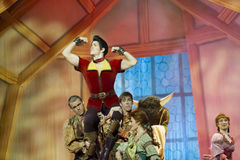 Gaston Held High. GREEN BAY, WI - FEBRUARY 10: Gaston held high from Beauty and the Beast at the Disney Princesses show at the Resch Center on February 10, 2012 Stock Image