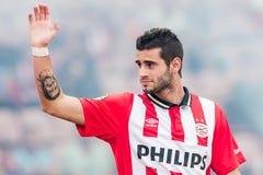 Gaston Pereiro spelare av PSV Arkivbilder
