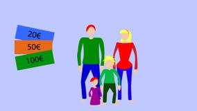 Gastos de manutenção da imagem do vetor da família ilustração royalty free