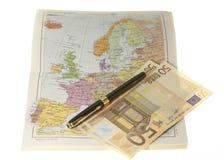 Gastos de planificación del recorrido Imágenes de archivo libres de regalías