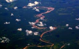 Gastos indirectos aéreos del río Amazonas, Perú Imagen de archivo libre de regalías