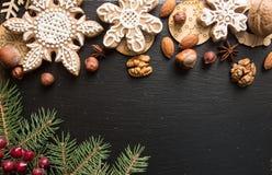Gastos indirectos del fondo del día de fiesta del Año Nuevo de la Navidad Tarjeta de felicitación Fotos de archivo