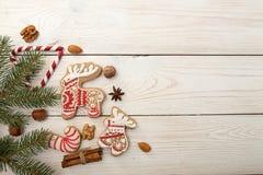 Gastos indirectos del fondo del día de fiesta del Año Nuevo de la Navidad Wi de la decoración Foto de archivo