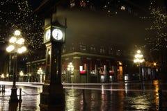 Gastown en la noche, Vancouver Imagenes de archivo