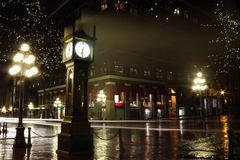 Gastown at Night, Vancouver Stock Images